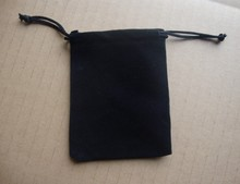 现货6*8CM黑色绒布袋 万圣节里礼品束口绒布袋 彩印棉布袋定做