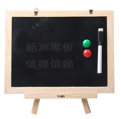厂家供应新款双面迷你型带磁性台式/挂式原木框留言小黑板 写字