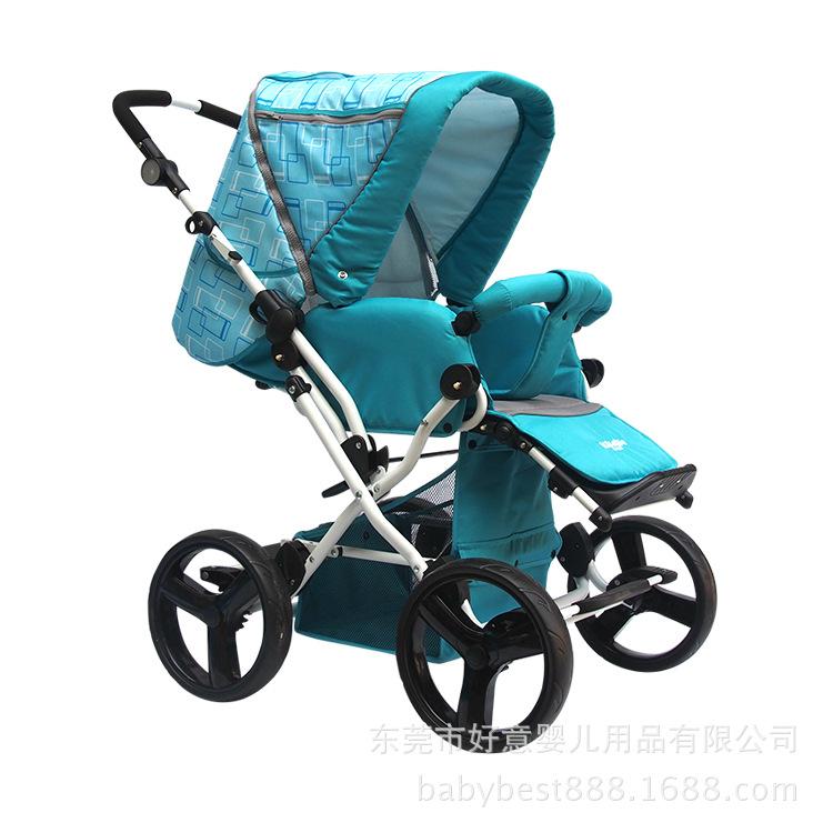 出口欧美换向婴儿推车双向避震婴儿车可坐可躺童车可折叠宝宝童车