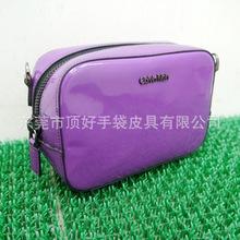 2019新款PU女士单肩包 日式紫色女士斜跨小方包 东莞厂家定制