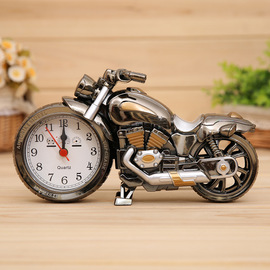 Vintage four-style motorcycle alarm clock decoration Plastic clock alarm clock Creative student dormitory home gifts