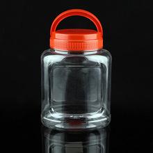 北京廠家直銷蜂蜜塑料瓶 pet透明瓶手提食品罐 塑料罐 食品罐