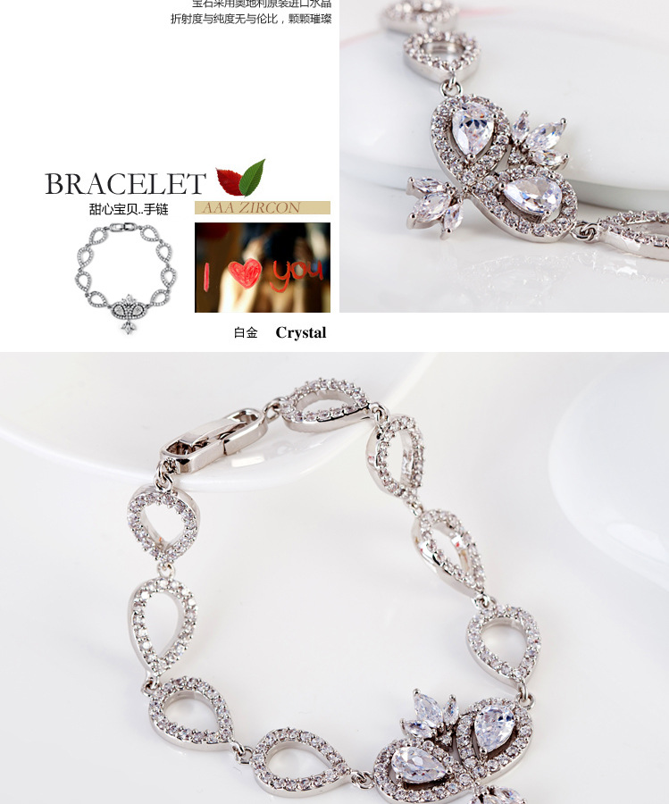 Boutique AAA Zircon Imitated crystal Fashion Bracelet NHTM145707