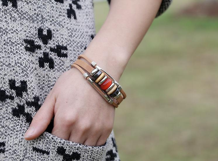 Alloy Fashion Geometric bracelet  (red) NHPK1744-red