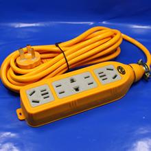 自产自销    十六孔带线多功能插座 插板 一体成型包胶地拖插座