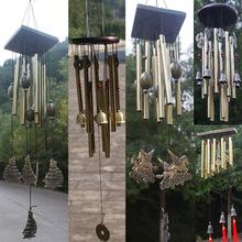 实木古铜风铃金属多管防锈风铃铜合金超大号挂饰风铃生日祝福