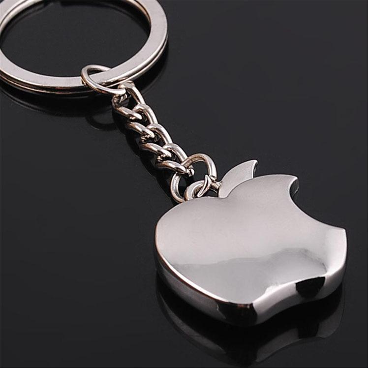金屬模型蘋果鑰匙扣空白蘋果鎖匙扣定制銀行促銷品刻定LOGO小禮物
