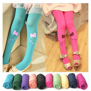 Cat Romper socks pantyhose for girl flower kitten candy color ballet princess stage performance gift leggings for kids
