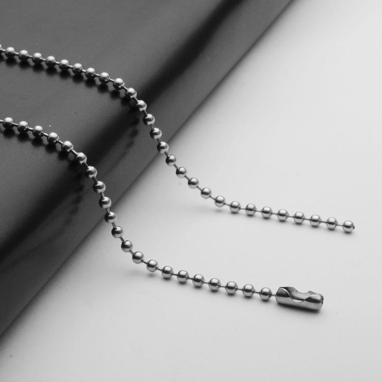 316不銹鋼男士項鏈鈦鋼歐美飾品吊墜配鏈圓珠鏈批發diy配件