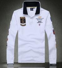 巴帕鹿男款新款空軍一長袖polo衫 翻領長袖刺繡 純棉T恤男 潮 988