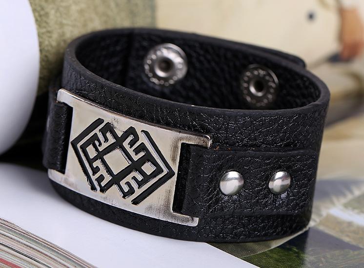 PU punk bracelets bracelets wholesale men and women fashion leather bracelets NHPK182392