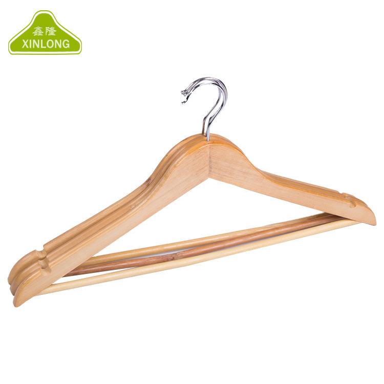 跨境WISH供应服装店家用皆宜实用木衣架特价热销二级木衣架批发
