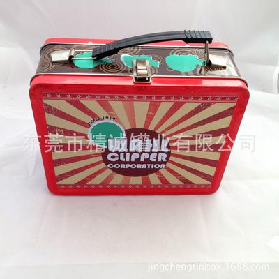 马口铁罐生产厂家 长方形化妆品包装铁罐 马口铁手提箱定制