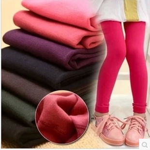 Inside brushed velvet pantyhose child fall and winter children's leggings winter thick warm brushed backing tights
