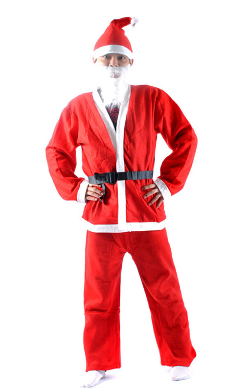 fabric christmas costumes santa claus dress up adult clothes set ornament 5 pcs ebay - Christmas Clothes For Adults