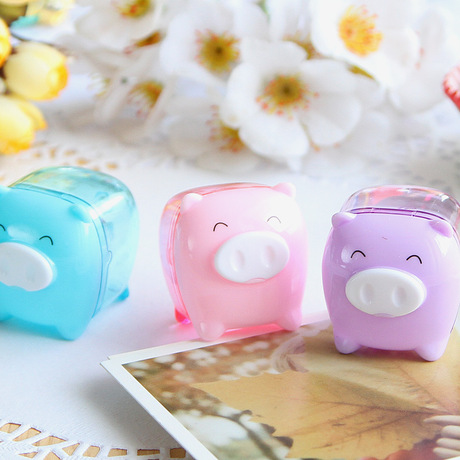 Deli 0557 Pencil Sharpener Dễ thương Treasure Pig Pencil Sharpener Pencil Sharpener Mini Pencil Sharpener Bán buôn