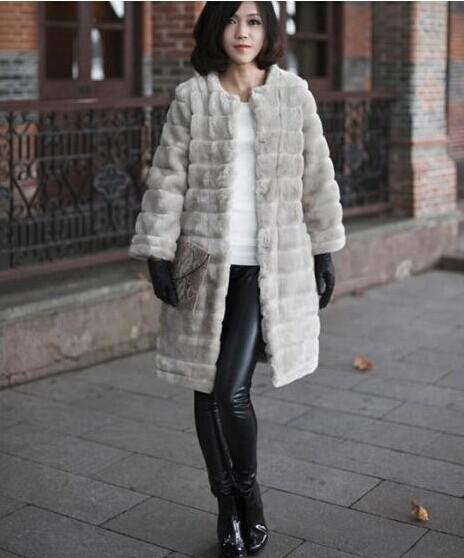 皮草外套女新款2018中长款人造皮毛外贸欧美条纹保暖外套大衣女