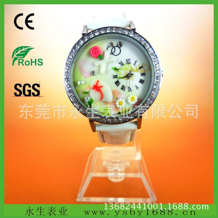 东莞市永生手表工厂大量供应硅胶合金软陶手表