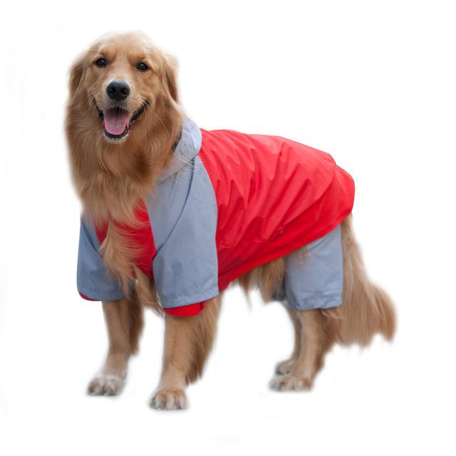 妞派特登山服宠物雨衣 2件套 狗狗雨披宠物衣服 泰迪金毛雨衣