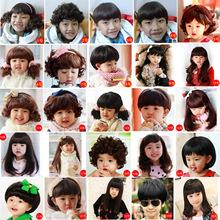 儿童假发5-10岁女孩头饰造型女宝宝长发女童短卷发公主婴儿假发帽