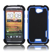 厂家直销 HTC ONE X手机套足球纹三合一防震手机保护壳硅胶套热卖