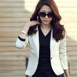 2014新款春装韩版 女装 休闲 修身小西装短外套