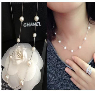 Korean version of the new hot sale exquisite fashion sober pearl single layer short necklace clavicle chain necklace wholesale
