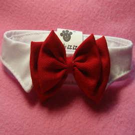 小狗领节结婚礼节宠物用品红蝴蝶节全棉领带B026婚庆喜兴小领带宠物饰品