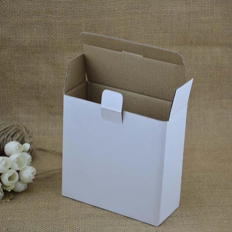 实力厂家生产瓦楞小白盒白板裱WE高强芯瓦楞纸彩盒白色包装盒定做