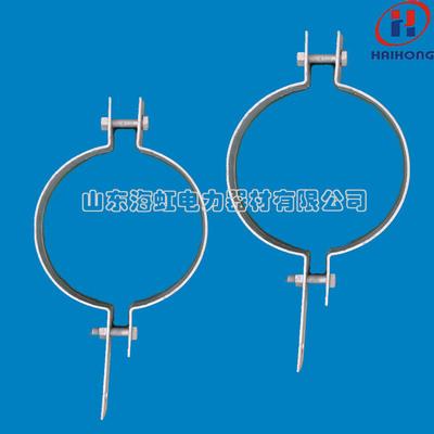 订做通讯线路铁附件 单吊线抱箍 双吊线抱箍 不锈钢喉箍厂家