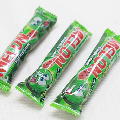 西班牙 原装 进口 西瓜泡泡糖 菲尼牌 西瓜口味夹心4粒装20g/条