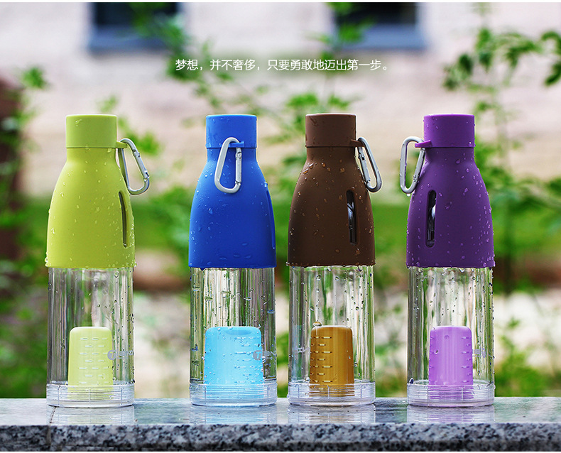 high quality plastic water bottle 500ml portable leak proof