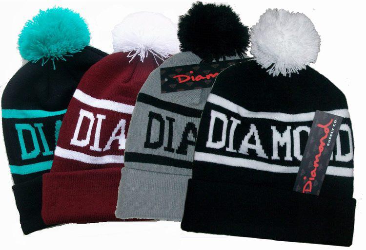 外贸 Diamond Supply Co Beanie毛线帽DIAMOND球球针织帽