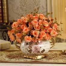 可定制欧式陶瓷花瓶 田园风格工艺摆件 创意家居饰品软装花艺花器