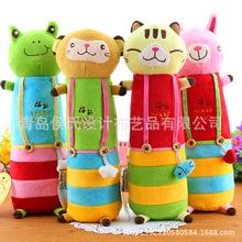 韩国?#23478;?#21345;通毛绒笔袋 卡通可爱小动物文具盒 玩偶笔袋厂家直销
