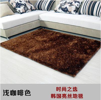 厂家直销 韩国丝加亮丝卧室客厅防滑瓷砖 家具城展厅地毯地垫