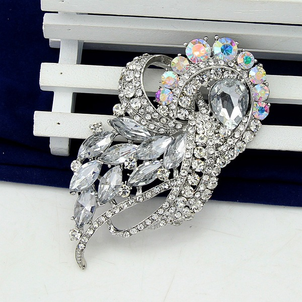 Stylish white acrylic alloy brooch NHDR153480