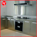 深圳工厂定制 L型304不锈钢橱柜 高档厨房不锈钢橱柜
