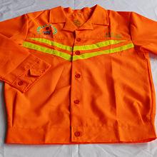 反光工衣保潔服清潔服,夏季短袖滌棉工作服東莞制衣廠定做