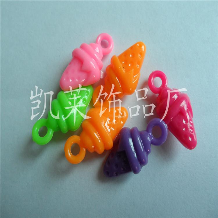 【厂家直销】各种吊孔异形塑料珠/草莓吊孔珠/diy串珠/饰品配件