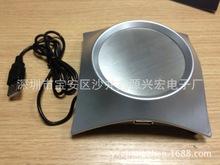 廠家批發 訂做USB帶HUB保溫碟 保溫杯墊 鋁合金保溫墊 加熱杯墊