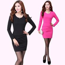 特價清貨 OL職業女裝大碼長袖拼接修身包臀職業品牌連衣裙JR845
