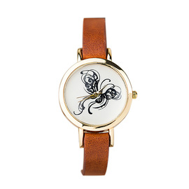 Blah, blah! European and American quartz movement butterfly pattern lady's watch a batch of fine watch with wristwatch