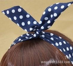 义乌 批发直销 韩版发箍兔耳朵发带 头饰 发饰发箍 兔耳朵