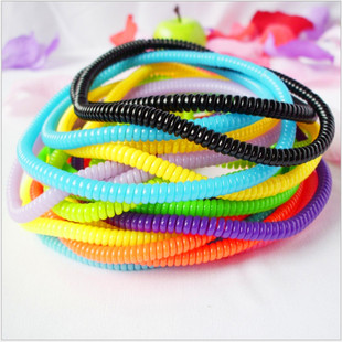 Korean phone cord necklace hair tie hair rope elastic rubber band candy color hair accessories 6g phone cord collar hair tie