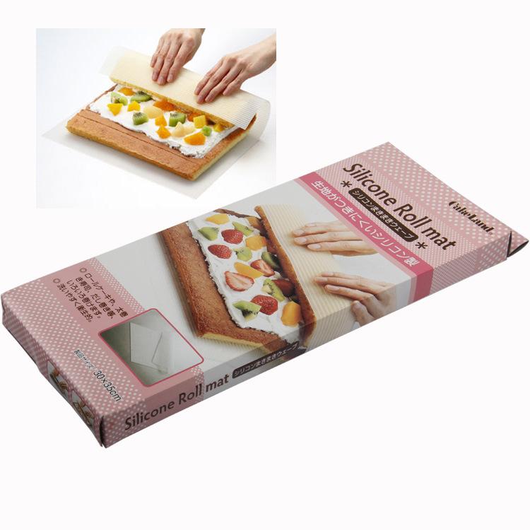 【爱满屋】烘焙用品 彩盒装饭团料理工具 硅胶寿司卷 寿司帘