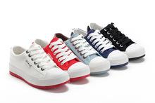 新韩版新款纯色百搭休闲低帮帆布女鞋 轻便平地板鞋潮8899