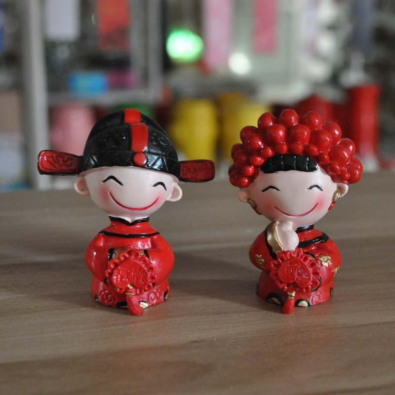 婚庆礼物伴手礼囍事物 新婚礼物 树脂娃娃 小夫妻
