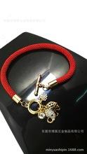 2014新年款 可爱镂空小象 大象吉祥 红绳手链 韩国本命年饰品