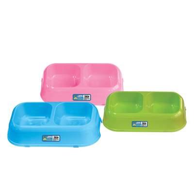 SOLEIL千羽狗猫通用防滑塑料双头bob客户端bob碗秸秆碗缓食碗双层组合碗